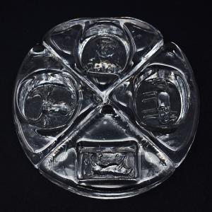 Erik Hoglund / アッシュトレイ4点セット / クリアガラス17cm / Sweden