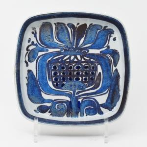 Royal Copenhagen / Tenera / 青い植物のトレー17� / Kari Christensen / DENMARK