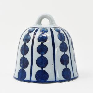 Royal Copenhagen / Tenara / 青いドット柄のベル / Grete Helland Hansen / DENMARK