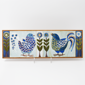 Royal Copenhagen / トリとお花の壁掛けタイル / Berte Koele / Denmark