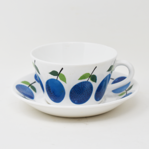 Gustavsberg / Prunus / ティーカップ&ソーサー / Stig Lindberg / Sweden