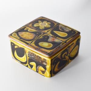 Royal Copenhagen / Baca / 黄色いトリの蓋付ボックス / Nils Thorson / Denmark