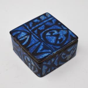 Royal Copenhagen / Baca / 黒と青の蓋付ボックス / Nils Thorson / Denmark