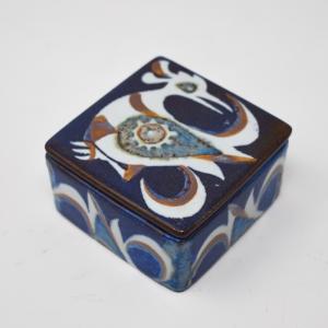 Royal Copenhagen / Baca / 青い鳥の蓋付ボックス / Nils Thorson / Denmark