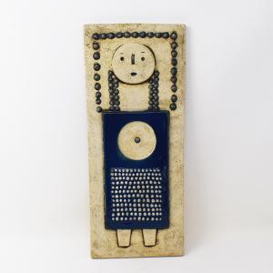 Rorstrand / ATELJE / 女の子の陶板 / Sylvia Leuchovius / Sweden