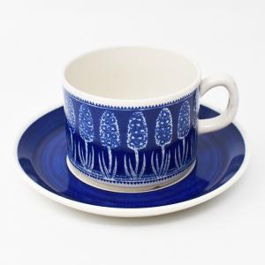 Gefle / Bla Hyacint / コーヒーカップ&ソーサー / Artur Percy / Sweden