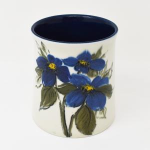 ARABIA / HLA / 青い花のフラワーベースH11.5cm  / Hilkka-Lisa Ahola / FINLAND