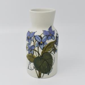 ARABIA / HLA / 青い花のフラワーベースH12.5cm  / Hilkka-Lisa Ahola / FINLAND