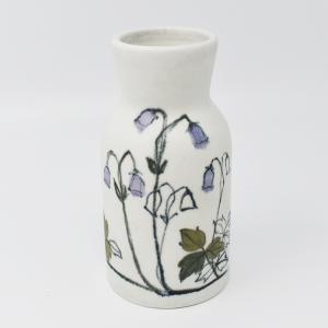 ARABIA / HLA / 薄紫色の花のフラワーベースH12.5cm  / Hilkka-Lisa Ahola / FINLAND