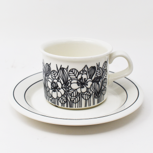 ARABIA / Krokus coffee cup&saucer×2 / HLA tea cup&saucer