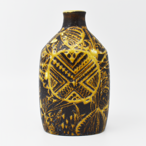 Royal Copenhagen / Baca / 黒と黄色のフラワーベース18cm / Nils Thorson / Denmark