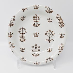 ARABIA / Tapestry Brown / ディーププレート17cm / Birger Kaipiainen / Finland