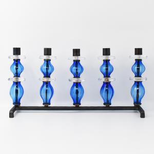 BODA / キャンドルスタンド / 5連ブルー,クリアガラス /  Erik Hoglund / Sweden