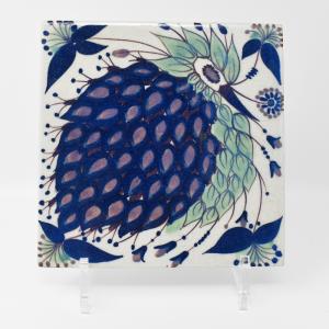 Royal Copenhagen  / 青いトリのタイル3 / 15.5×15.5cm/ Berte Jessen / DENMARK