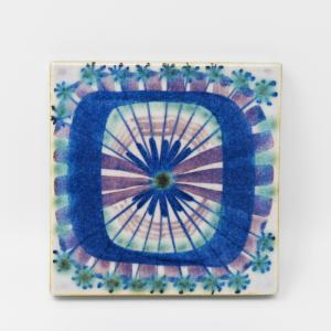 Royal Copenhagen  / 青い模様のタイル1 / 7.5×7.5cm/ Marianne Johnson / DENMARK