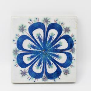 Royal Copenhagen  / 青い模様のタイル3 / 7.5×7.5cm/ Marianne Johnson / DENMARK