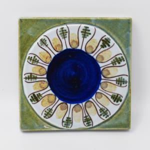 Royal Copenhagen  / 植物模様のタイル3 / 7.5×7.5cm/ Berte Jessen / DENMARK