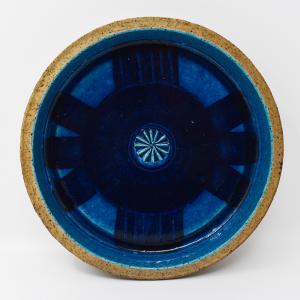 Rorstrand / ATELJE / 青いプレート22cm / Inger Persson / Sweden