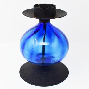 Erik Hoglund / candle stand blue XL(エリック・ホグラン/キャンドルスタンド・ブルーXL) H18.5cm