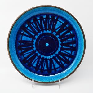 Rorstrand / ATELJE / 青いプレート30cm / Inger Persson / Sweden