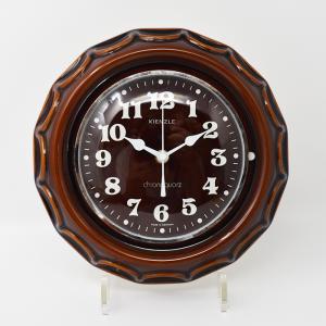 Kienzle / 茶色い陶器の壁掛け時計