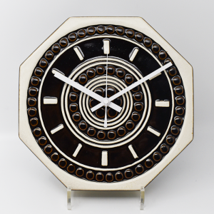 Gustavsberg / Britt Louise Sundell / (グスタフスベリ)茶色い壁掛け時計