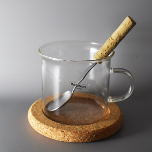 Boda Nova / ガラスのコーヒーカップ・コルクのコースター、スプーンセット