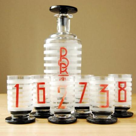 ボトル・ショットグラスセット / アールデコ  / Frace