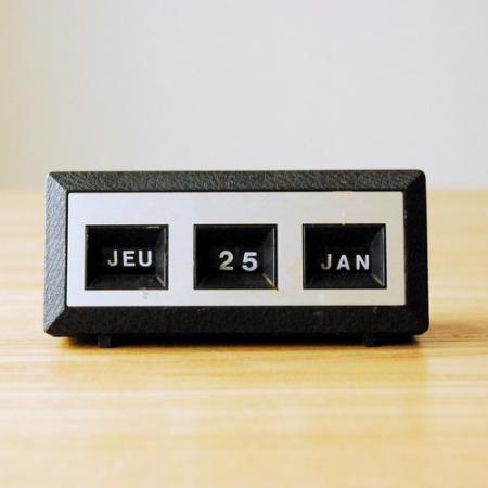 パーペチュアルカレンダー / ブラック / フランス語表記/ France