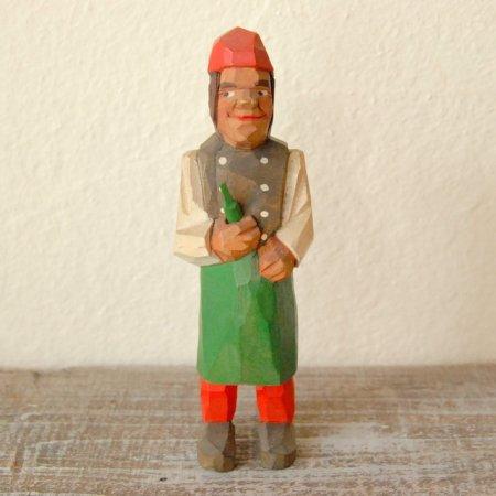 瓶を抱えた男 / 木彫人形 / Denmark