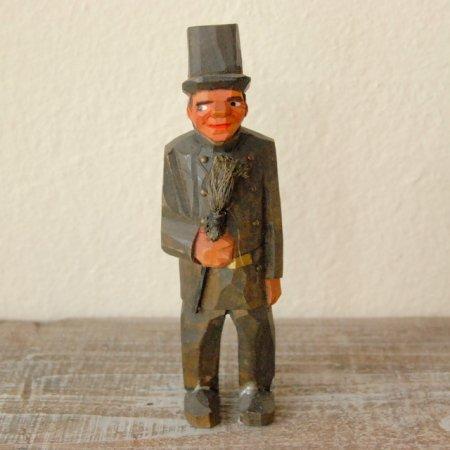 シルクハットの男 / 木彫人形 / Denmark