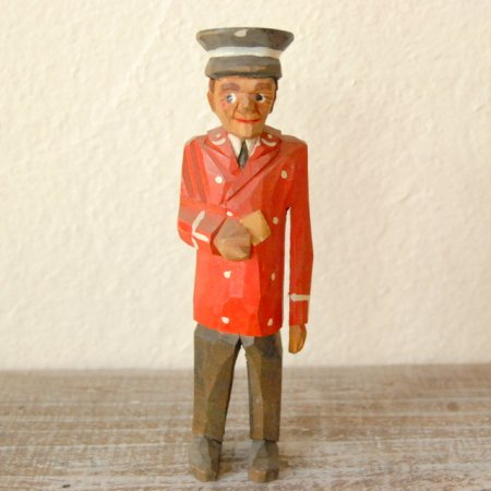 郵便屋さん / 木彫人形 / Denmark