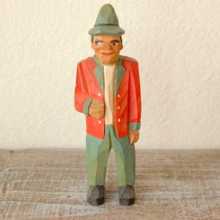 赤いジャケットを着た男 / 木彫人形 / Denmark