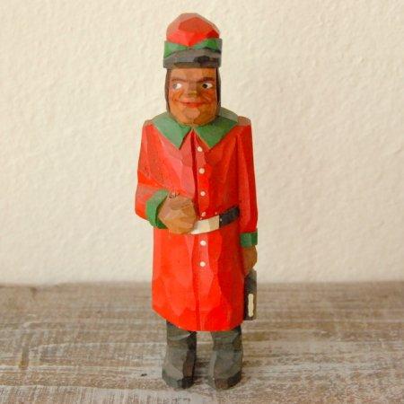 赤い制服を着た男 / 木彫人形 / Denmark