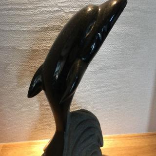 イルカのインテリア石置物  310×120×130【H×W×D(mm)】