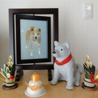 ペットフォトスタンド<犬> オーダーメイドの国産加工でお墓またはオブジェとしてもご利用になれます