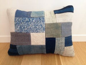 【SOLD OUT】パッチワーク キリム クッション(Anatolia Patchwork Kilim Cushion) 横長