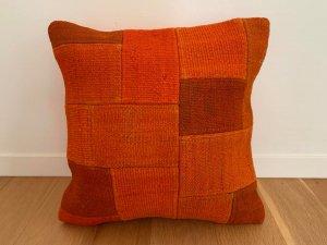 パッチワーク キリム クッション(Anatolia Patchwork Kilim Cushion) オレンジ