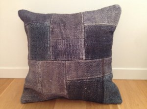 【SOLD OUT】 パッチワーク キリム クッション(Anatolia Patchwork Kilim Cushion) グレイ