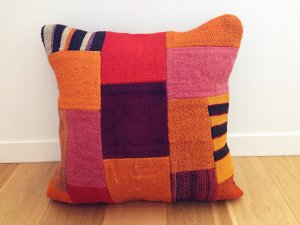【SOLD OUT】パッチワーク キリム クッション(Anatolia Patchwork Kilim Cushion)