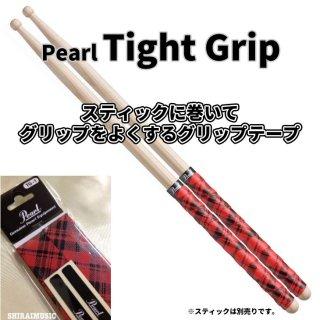 Pearl (パール) グリップテープ タイトグリップ レッド タータンチェックデザイン【2ペア分】Tight Grip TG-1-TR<br>【追跡可能メール便 送料無料】