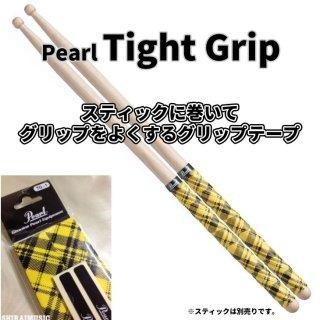 Pearl (パール) グリップテープ タイトグリップ イエロー タータンチェックデザイン【2ペア分】Tight Grip TG-1-TY<br>【追跡可能メール便 送料無料】