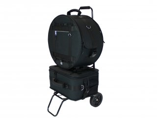 Pearl ( パール )  ブラックジャムシリーズ スネアドラム&ドラムペダルキャリングバッグ カート付き PSC-BJSPCA