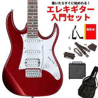【届いたらすぐに始めれる!エレキギター入門セット】<br>Ibanez ( アイバニーズ ) GIOシリーズ エレキギター GRX40(CA:キャンディーアップル)