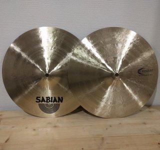 【即納1点限り】SABIAN (セイビアン)  Crescent Cymbals Jeff Hamilton Series 14″ Hammertone Hats 上下ペア
