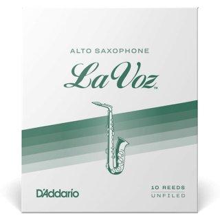 D'Addario WOODWINDS ( ダダリオウッドウィンズ ) アルトサックス用リード  ラ・ヴォーズ La Voz (10枚入)<br>【ゆうパケット 送料無料】