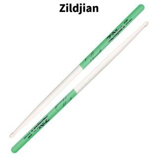 Zildjian (ジルジャン) ドラムスティック 5A メイプルグリーンDIP 406×15.2mm(1ペア) 【定形外郵便】【送料無料】