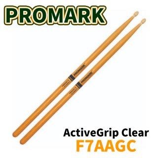 Promark (プロマーク) ドラムスティック ヒッコリー Rebound 7A ActiveGrip Clear 13.5mm x 406mm R7AAGC(1ペア)