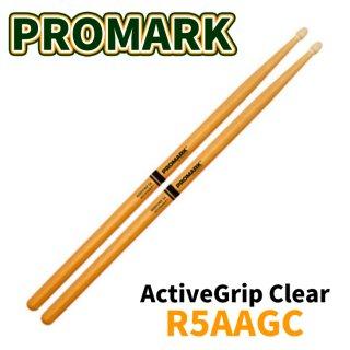 Promark (プロマーク) ドラムスティック ヒッコリー Rebound 5A ActiveGrip Clear 14.4mm x 406mm R5AAGC(1ペア)