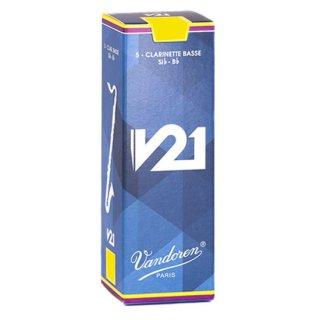 Vandoren(バンドレン) バスクラリネット用リード V21(5枚入)【強度をお選びください】